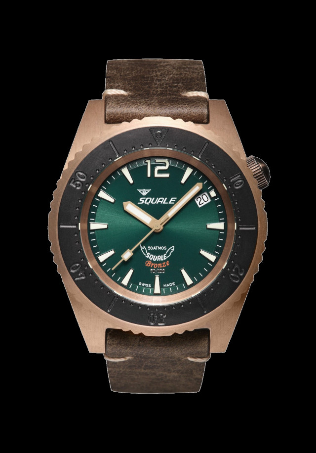 Squale 50 atmos Bronze Green
