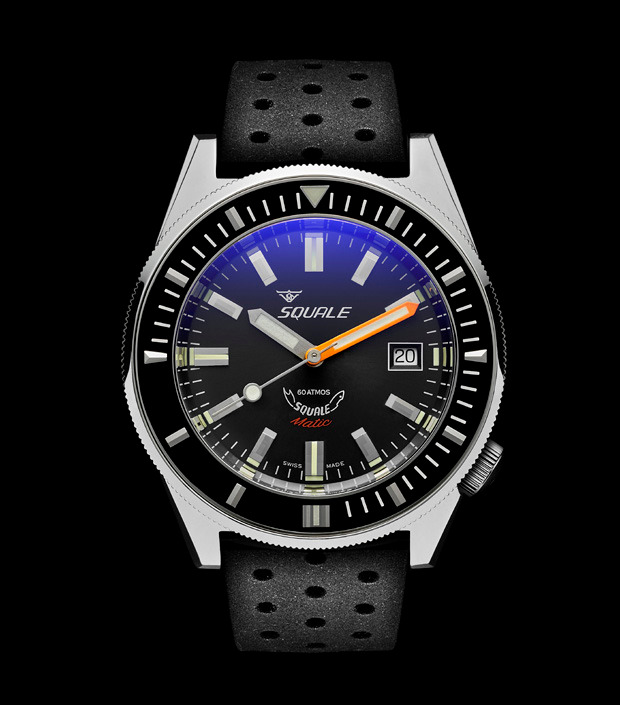 Squale 60 atmos - Squalematic - Grey Dive Watch