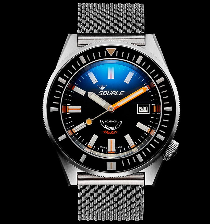 Squale 60 atmos - Squalematic Dive Watch - Satin Black