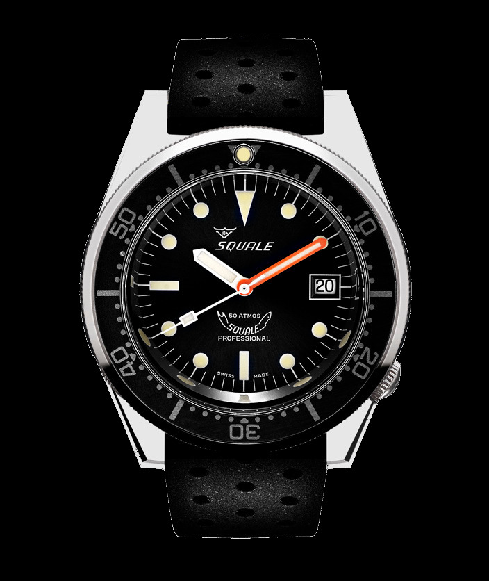 Squale 50 atmos - 1521 Dive Watch - Black / Polished