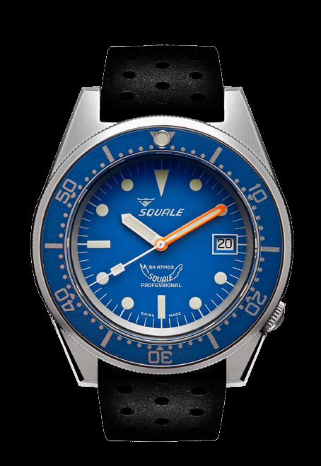 Squale 50 atmos - 1521 Dive Watch - Blue / Blasted