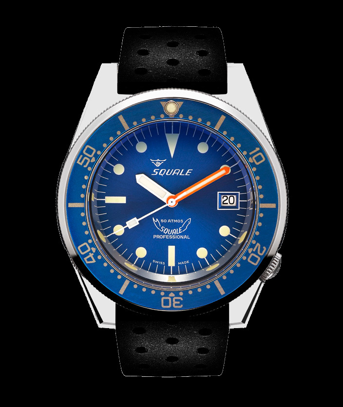 Squale 50 atmos - 1521 Dive Watch - Blue / Polished