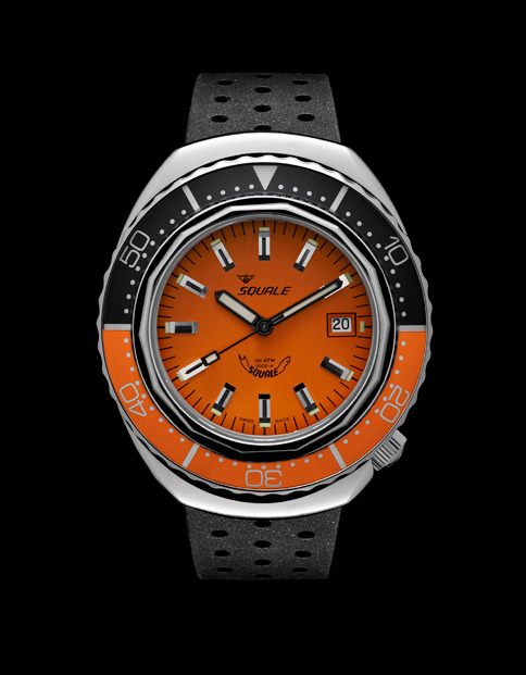 Squale 101 atmos - 2002 Dive Watch - Orange/Black Bezel with Orange Dial and Polished case