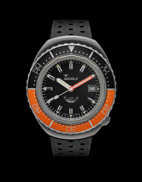 Squale 101 atmos - 2002 Dive Watch - Orange/Black Bezel with Black Dial and Blasted case