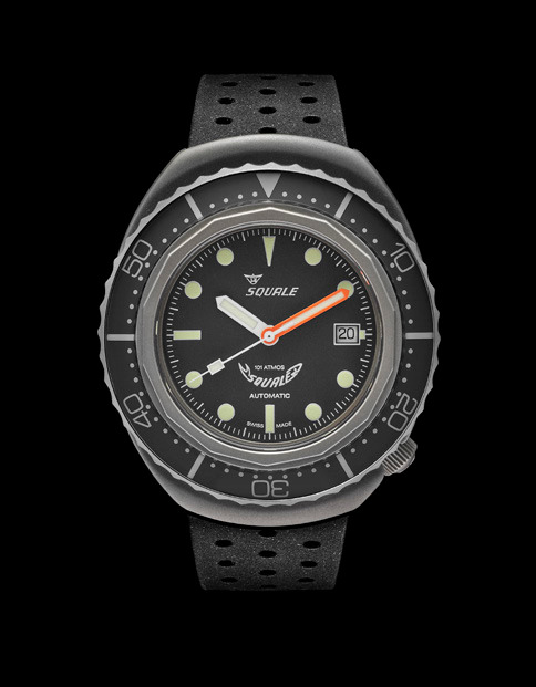 Squale 101 atmos - 2002 Dive Watch - Grey Bezel with Grey Dial, Luminous Dots and Blasted case