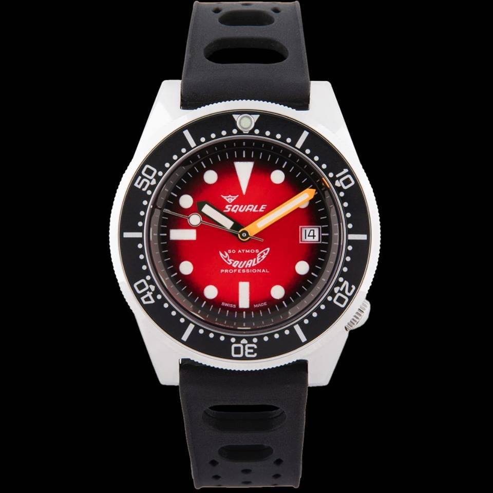 Squale 50 atmos 1521 Red Passion Dive Watch