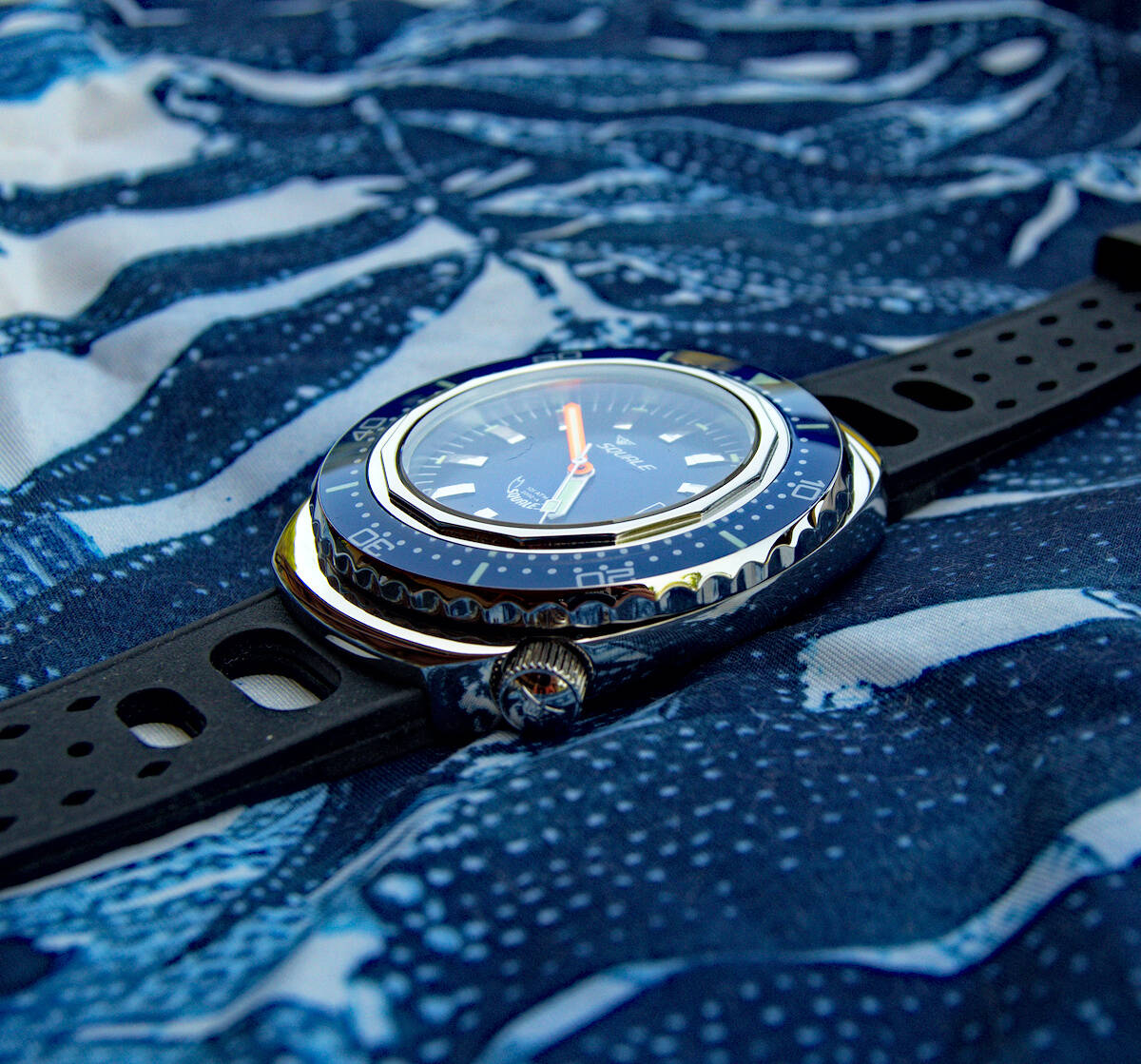 Squale 101 atmos 2002 Professional Dive Watch - Blue Polished