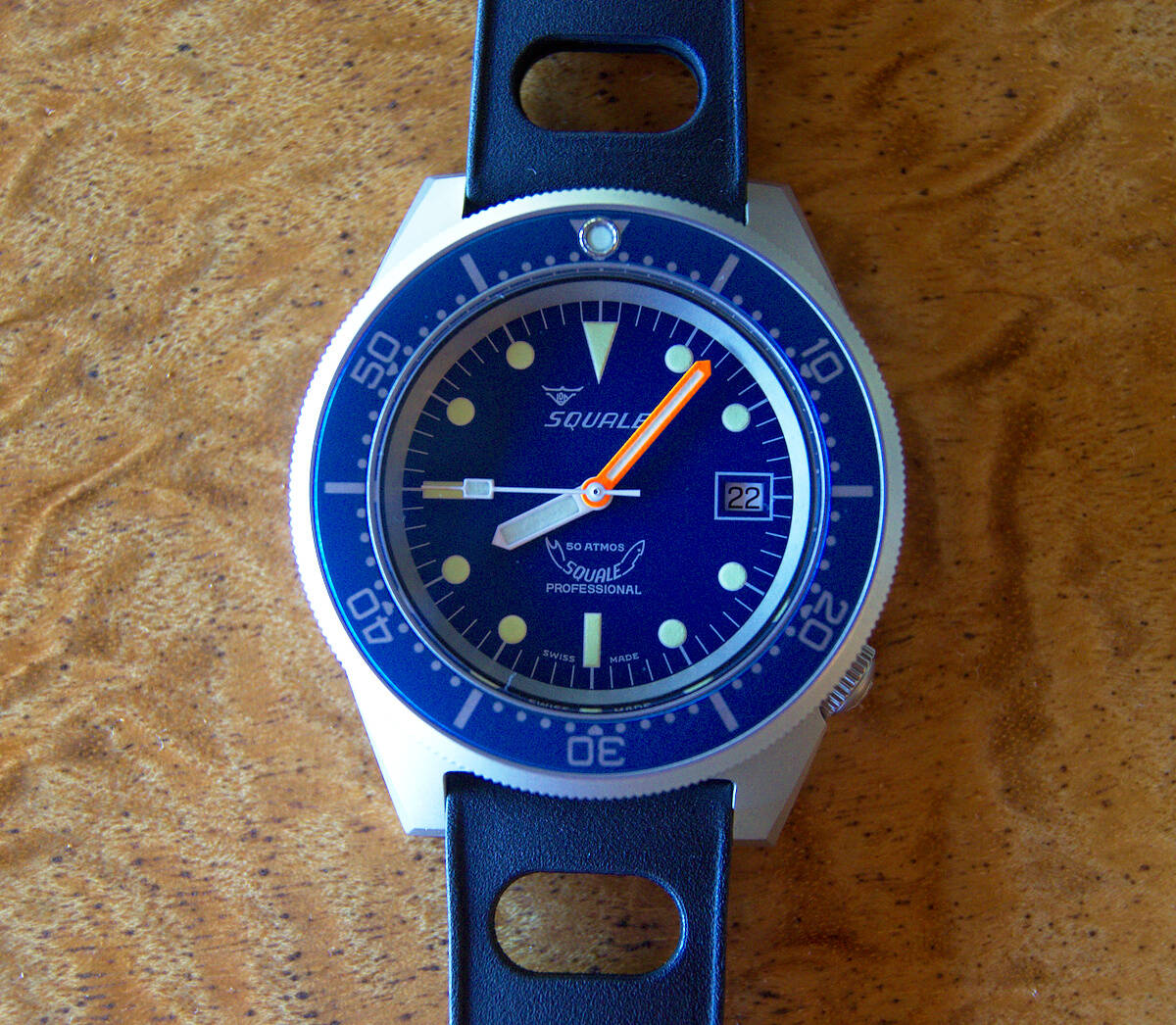 Squale 50 atmos 1521 Dive Watch - Blue Blasted