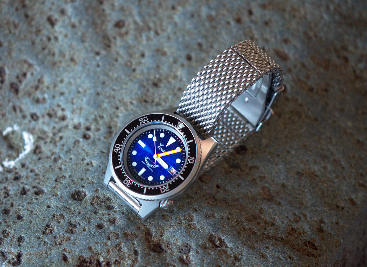 Squale 50 atmos 1521 Dive Watch - Blue Soleil Blasted