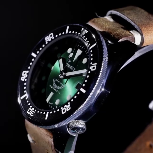 Squale 50 atmos 1521 Green Professional Dive Watch