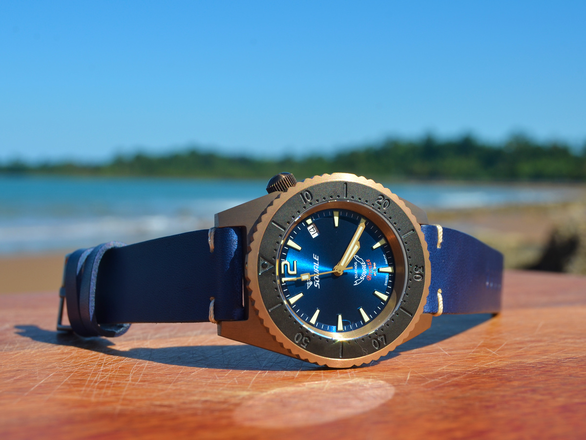 Squale Limited Edition 50 atmos 1521 Bronze with Blue Dial