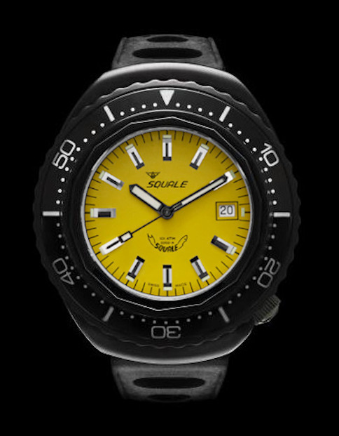 Squale 101 atmos Hornet 2002 Dive Watch - Yellow Black PVD