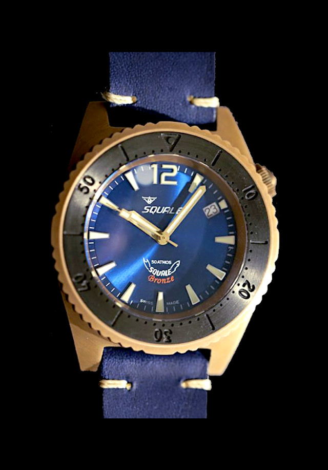 Squale 50 atmos Bronze Blue Limited Edition Dive Watch