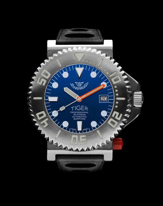 Squale Tiger Dive Watch - Blue - 30 atmos