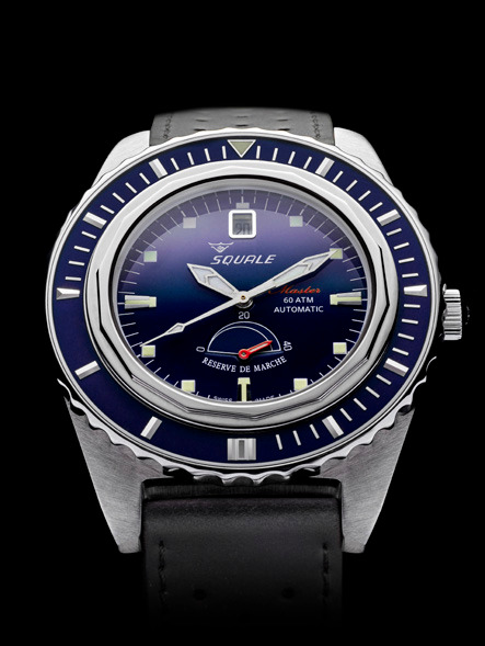 Squale Master Professional Dive Watch - Sunburst Blue Dial