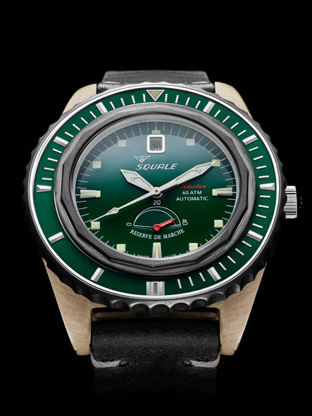 Squale Master Professional Dive Watch - Green Dial with Bronze case
