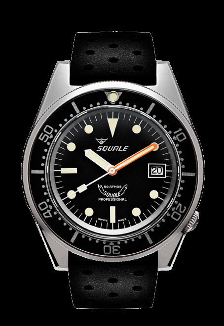 Squale 50 atmos - 1521 Dive Watch - Black / Blasted