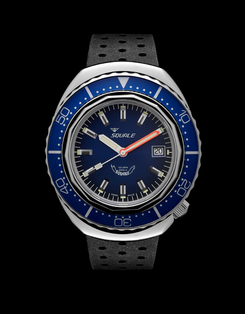 Squale 101 atmos - 2002 Dive Watch - Blue Bezel with Blue Dial and Polished case