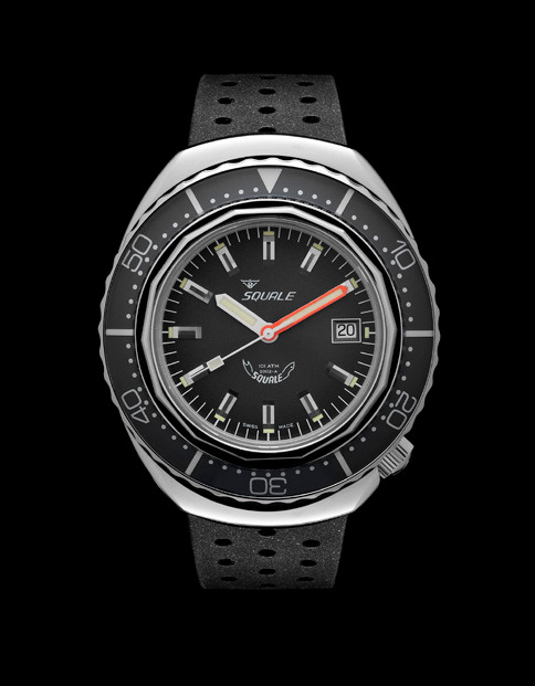 Squale 101 atmos - 2002 Dive Watch - Grey Bezel with Grey Dial and Polished case