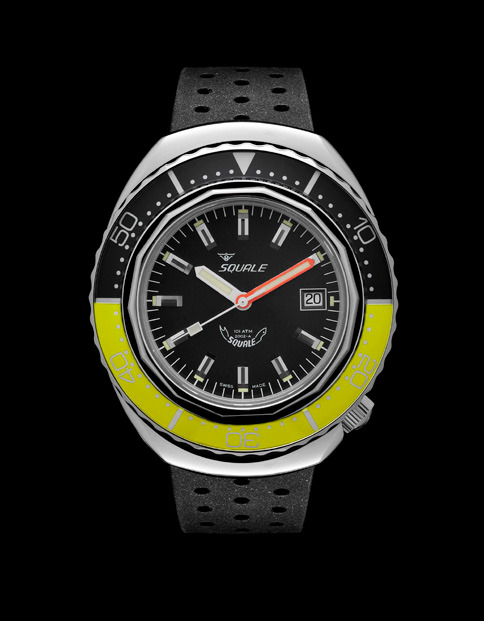 Squale 101 atmos - 2002 Dive Watch - Yellow/Black Bezel with Black Dial and Polished case