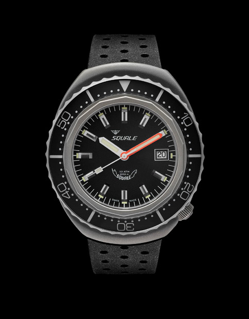 Squale 101 atmos - 2002 Dive Watch - Black Bezel with Black Dial and Blasted case