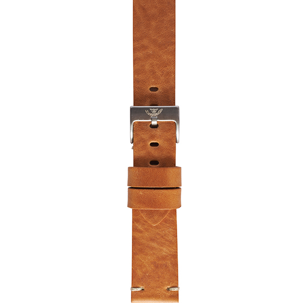 Squale Tan Vintage Leather Watch Strap