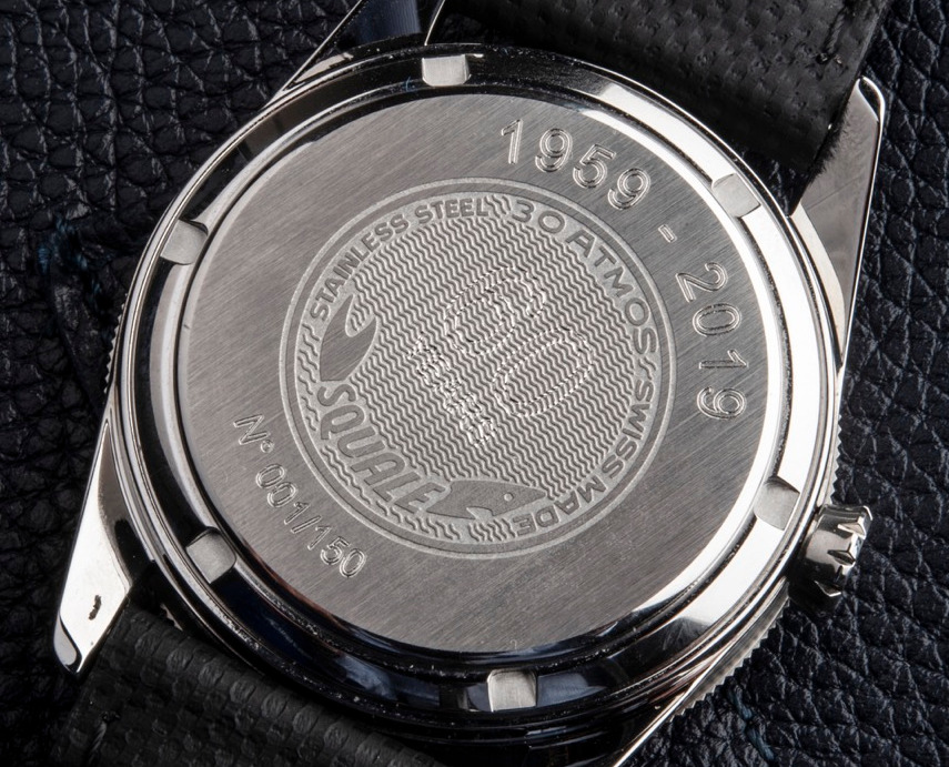 Squale 60 Year Limited Edition Dive Watch Case Back