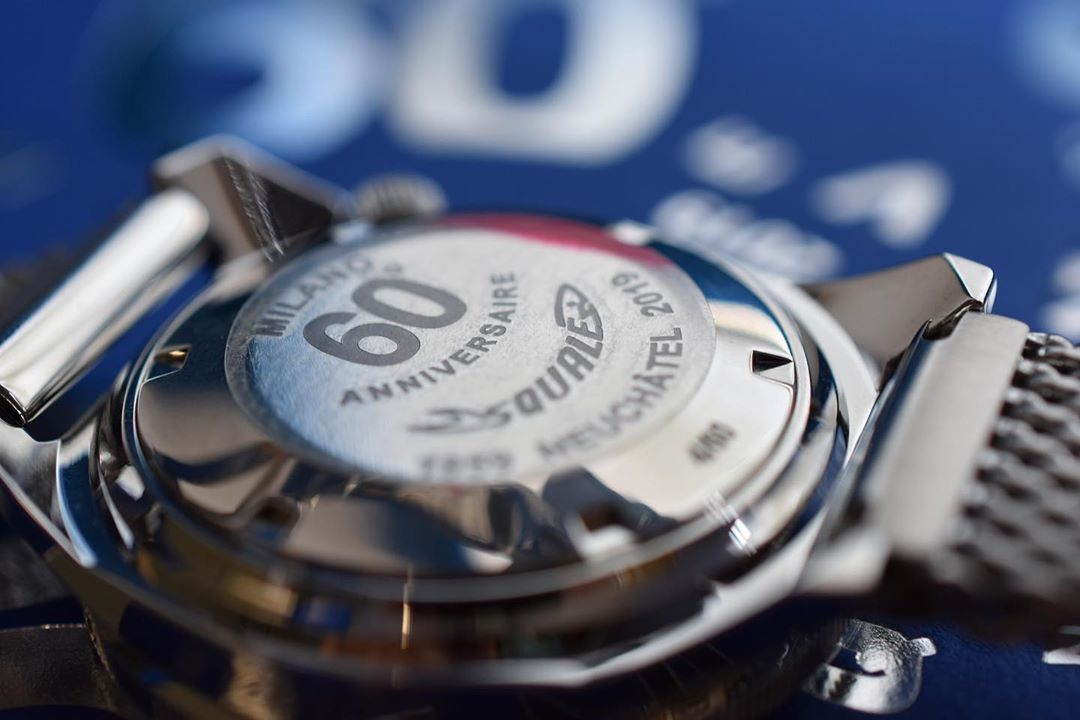 Squale 50 atmos Anniversaire Case Back