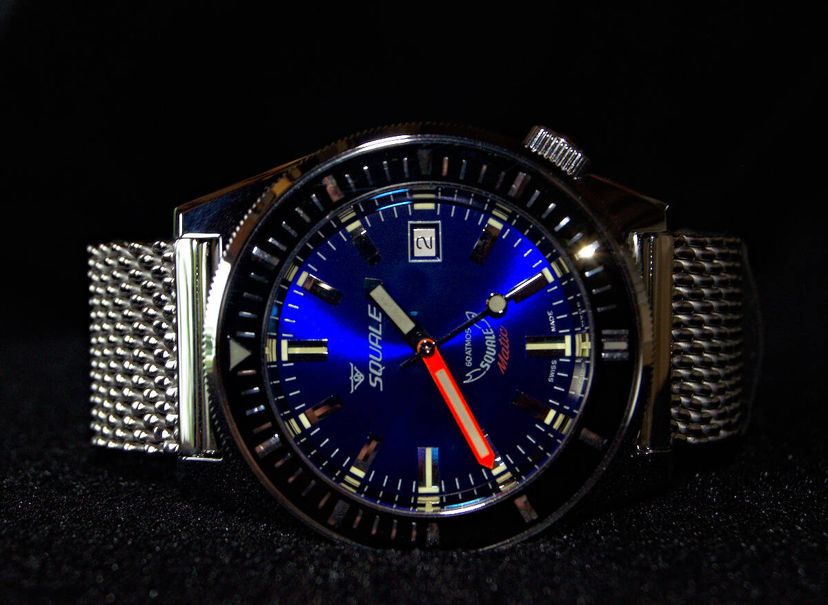 Squale 60 atmos Squalematic Dive Watch - Deep Blue