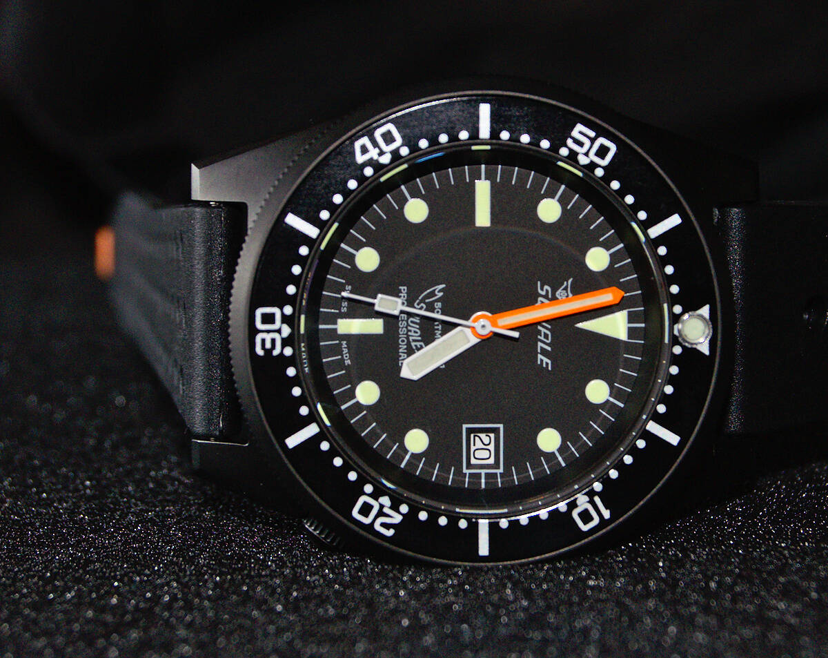 Squale 50 atmos - 1521 Dive Watch - Black / PVD