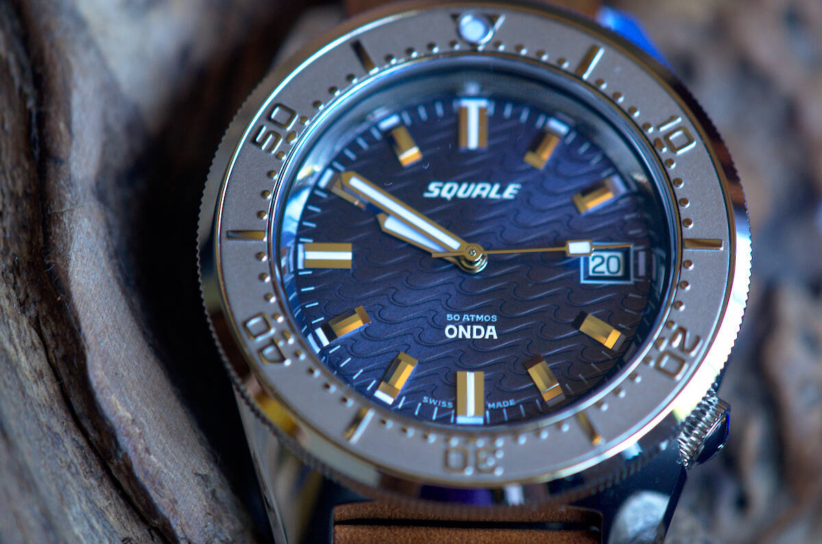 Squale 50 atmos 1521 Dive Watch - Onda Purple