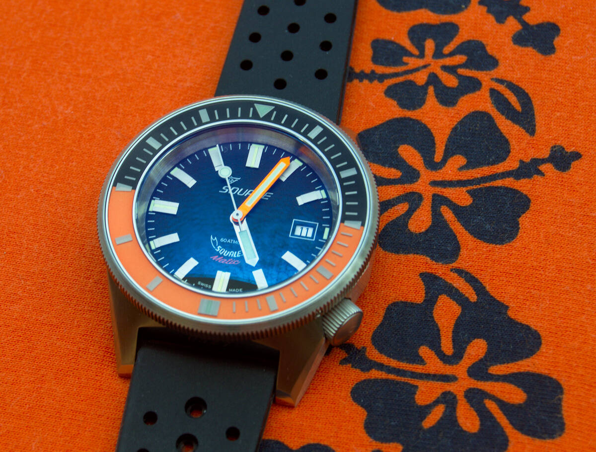 Squale 60 atmos Squalematic Dive Watch - Orange/Black