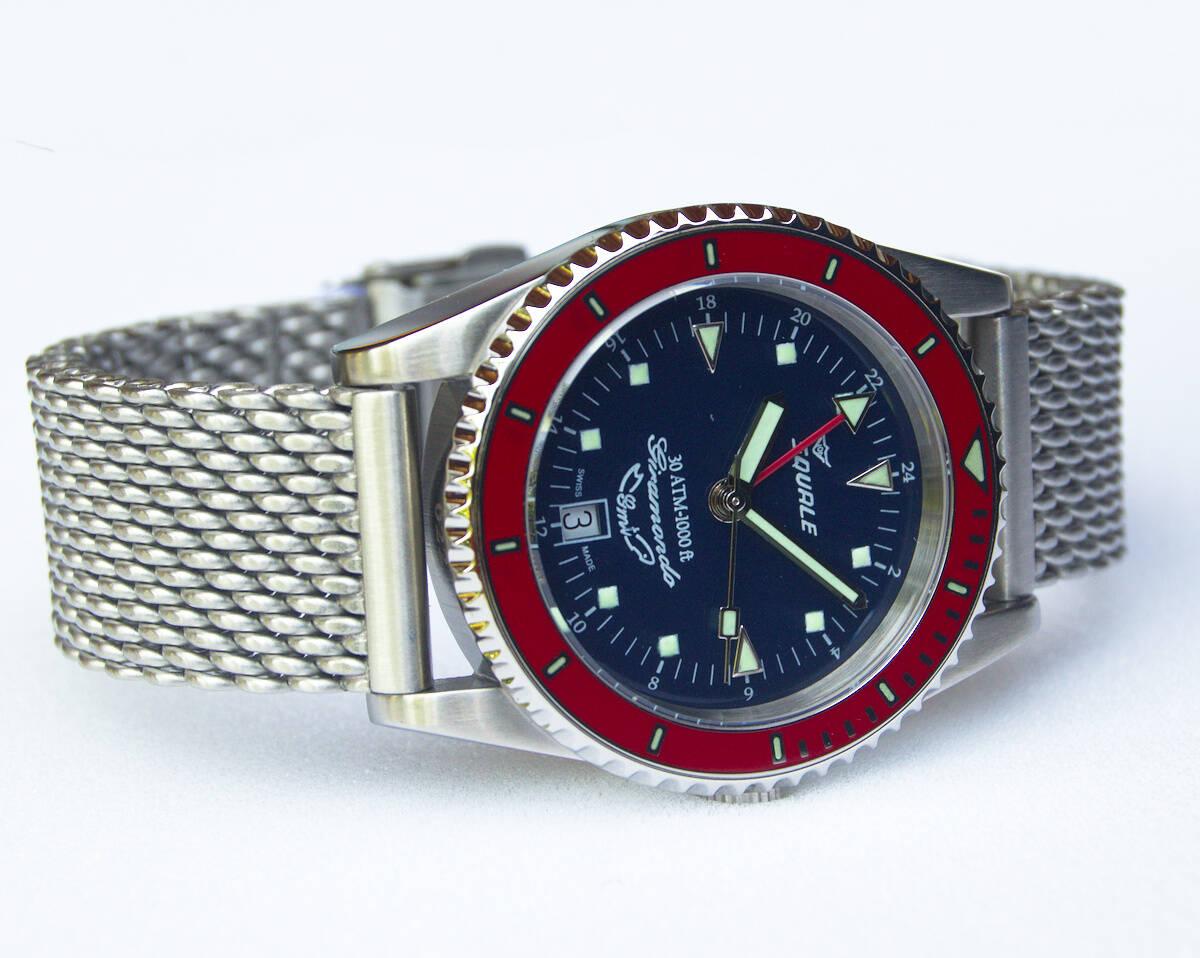 Squale Giramondo GMT 30 atmos dive watch