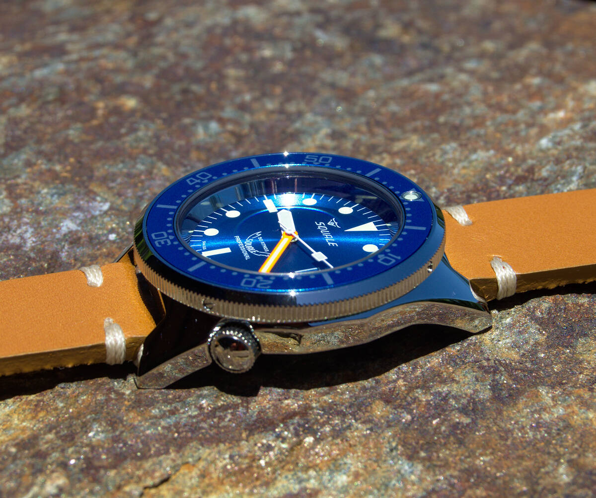 Squale 50 atmos 1521 Dive Watch - Blue Polished
