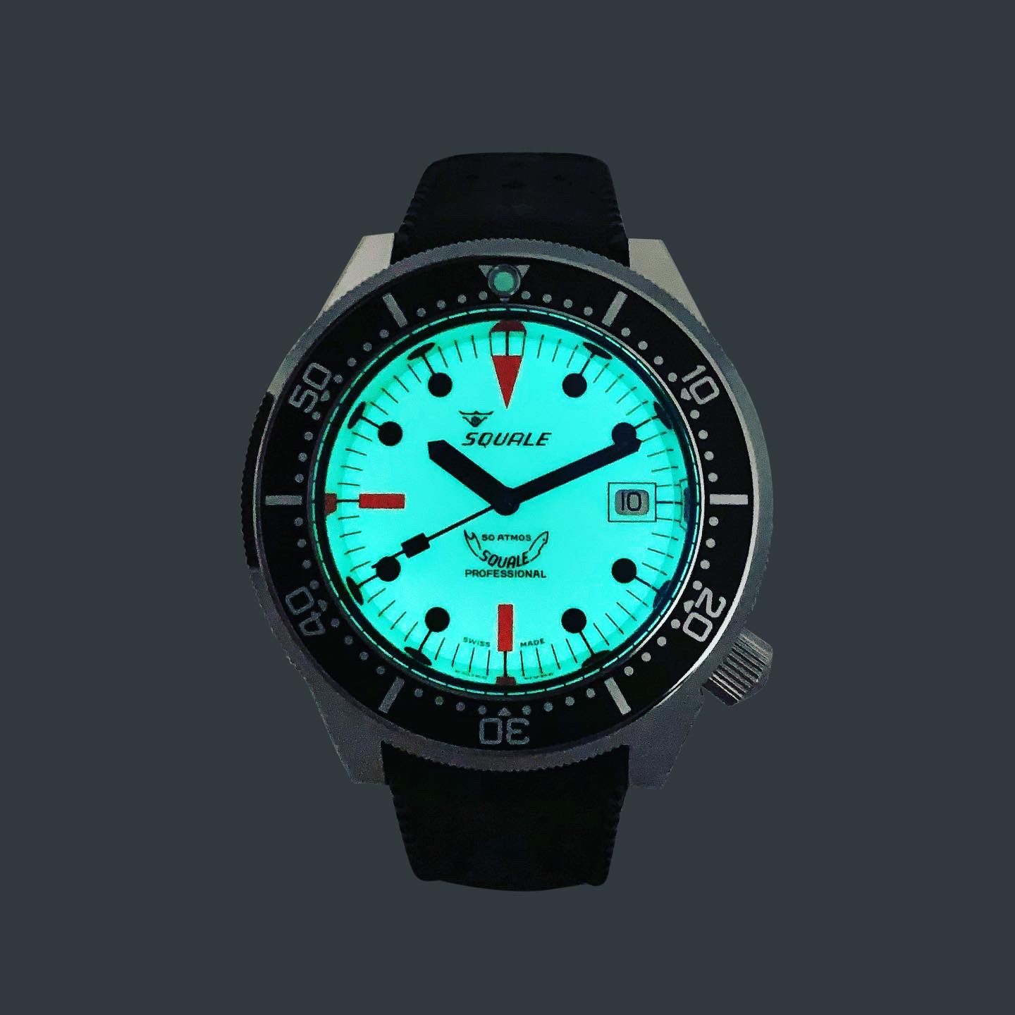 Squale 50 atmos 1521 Full Lume Dive Watch