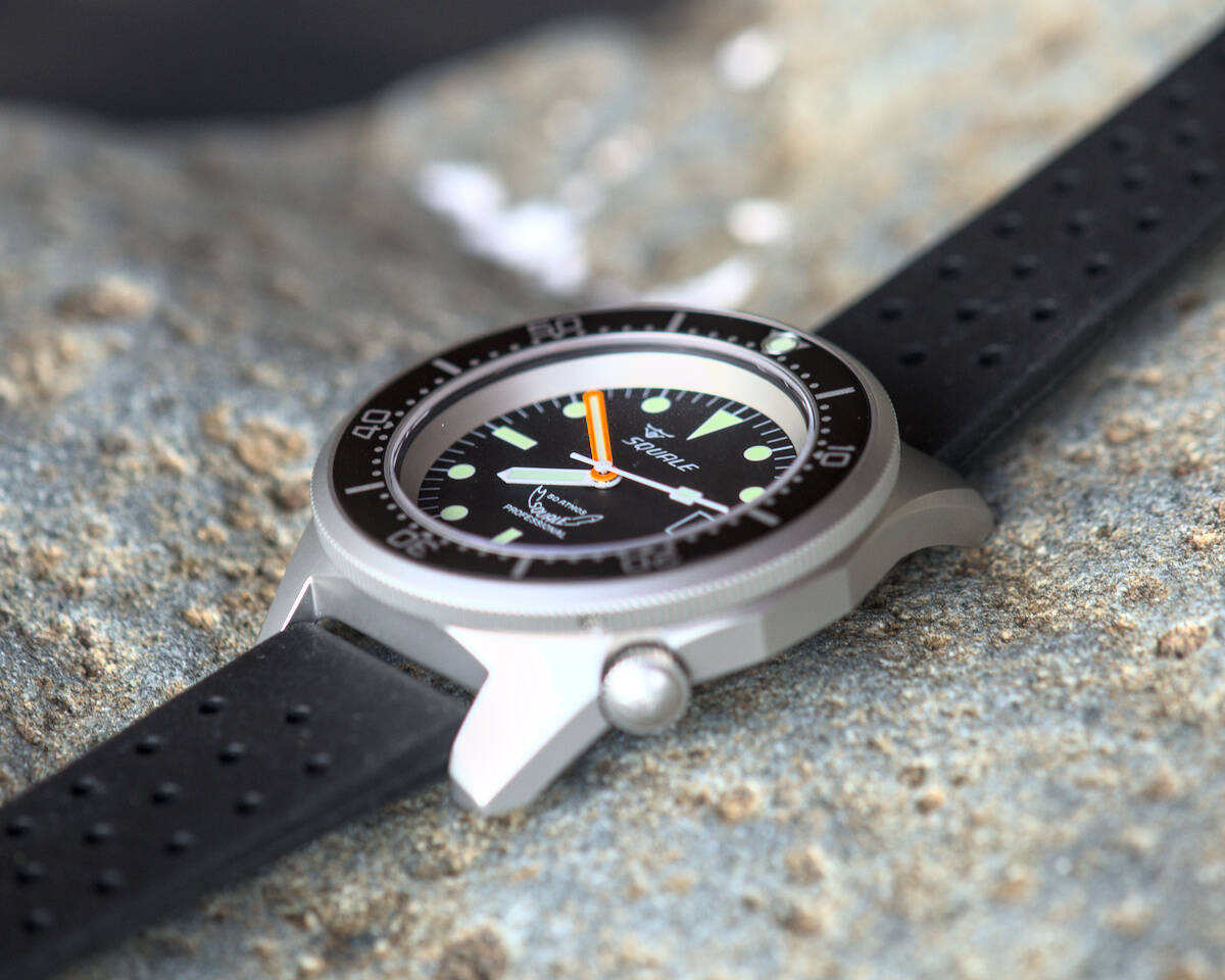 Squale 50 atmos 1521 Dive Watch - Black Blasted
