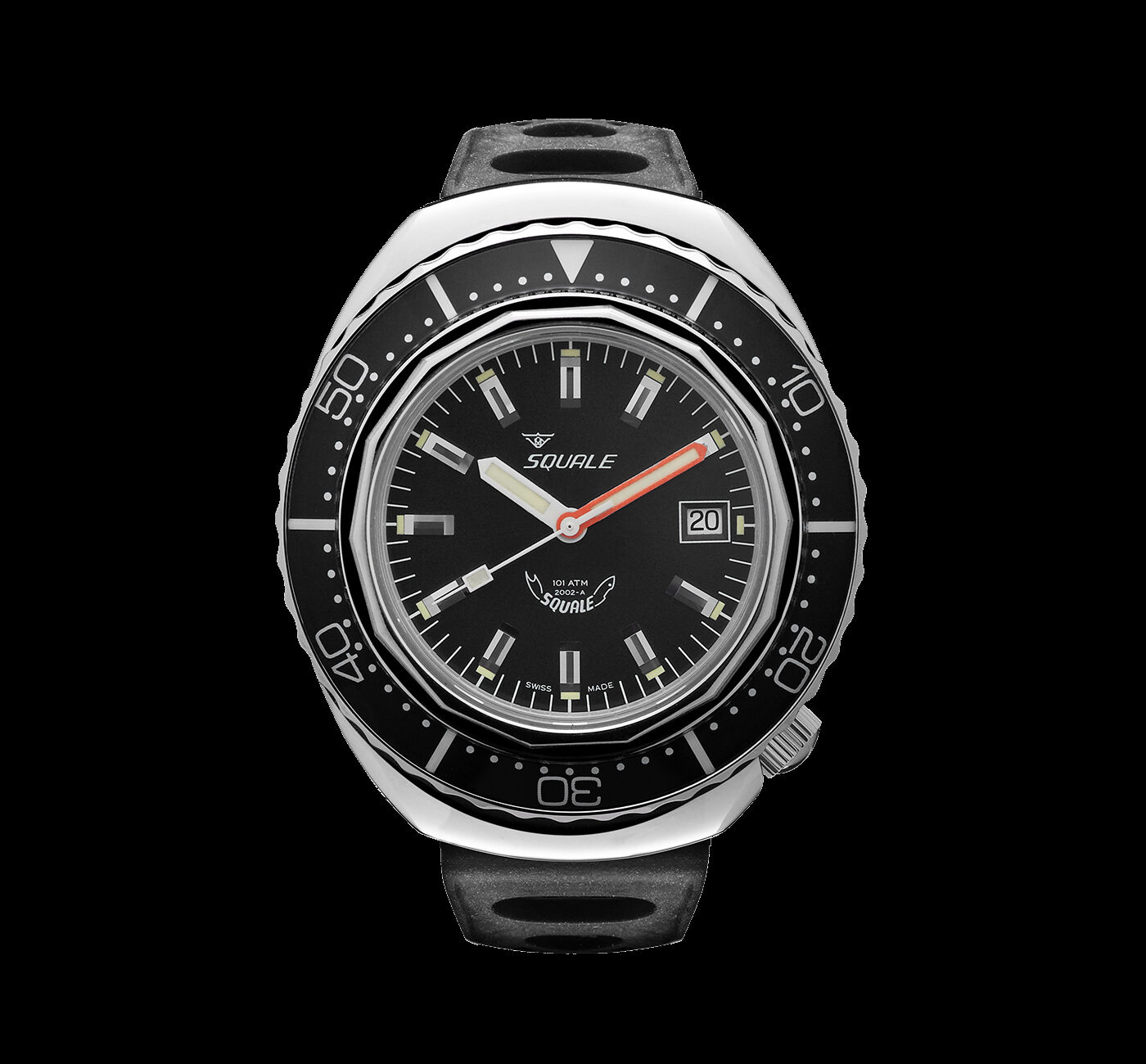 Squale 101 atmos 2002 Black Polished Dive Watch