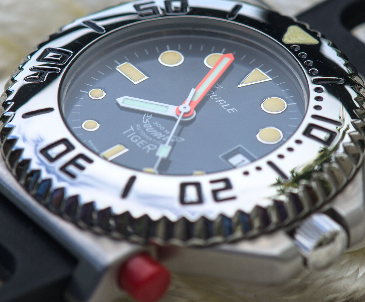 Squale Tiger NOS Blue Dive Watch