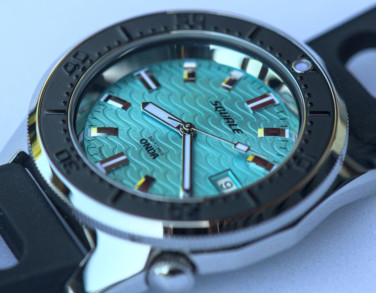 Squale 50 atmos 1521 Dive Watch - Onda Azzurro Black