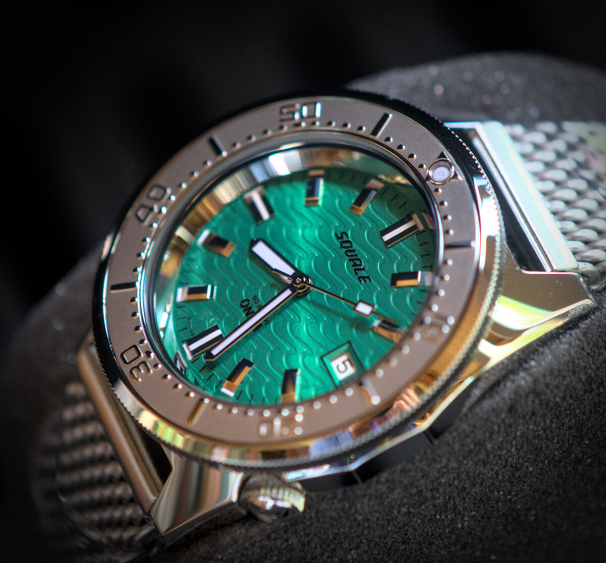 Squale 50 atmos 1521 Onda Emerald Dive Watch
