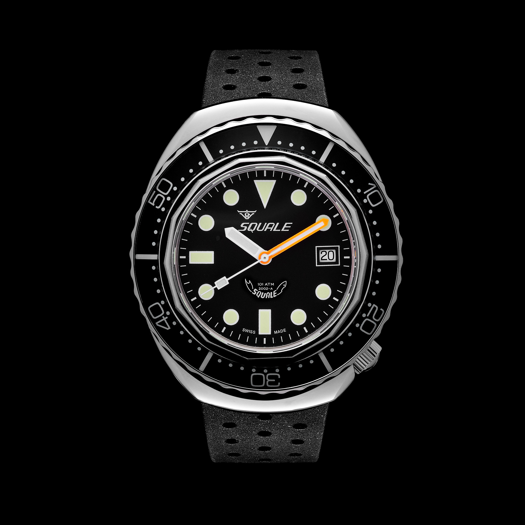 Squale 2002 Blask Dots Blasted 101 atmos Dive Watch