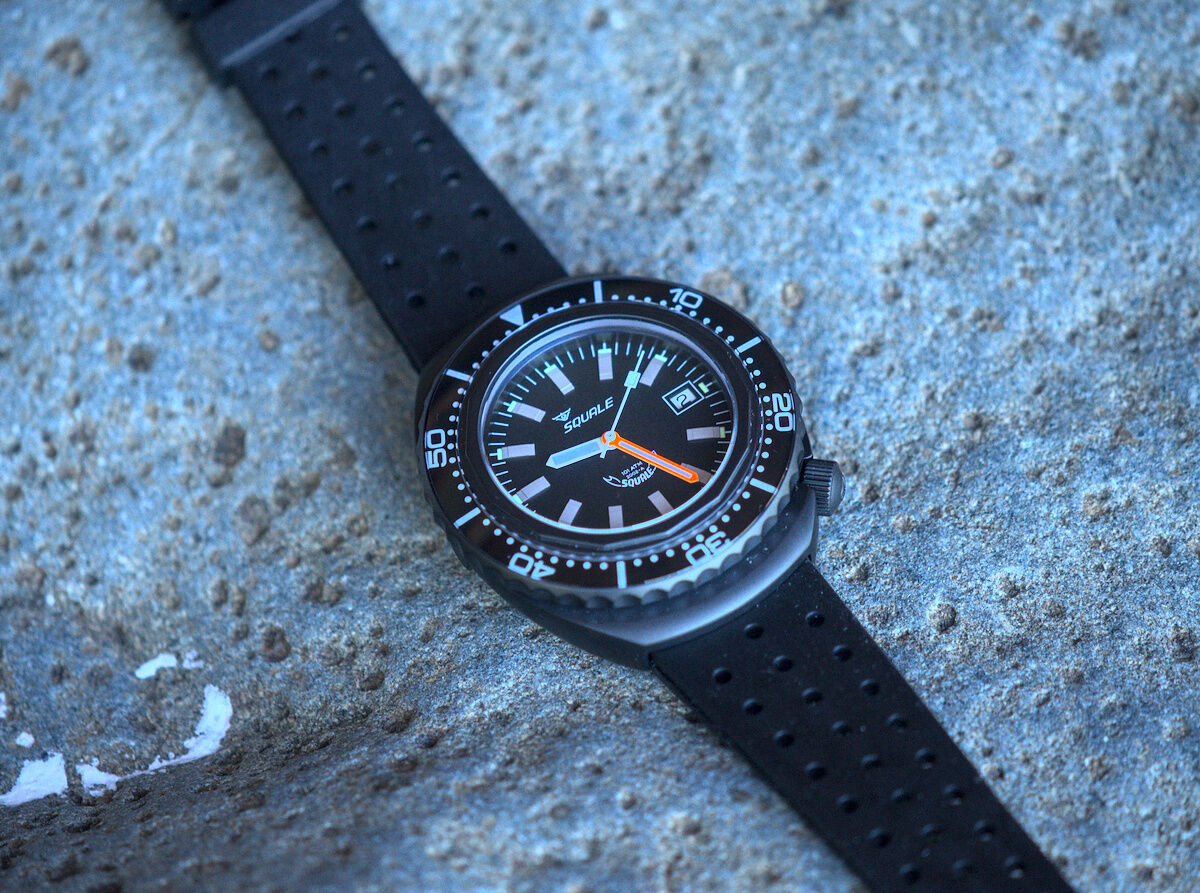 Squale 101 atmos - 2002 Dive Watch - Black Bezel with Black Dial and Black PVD case